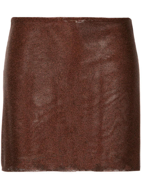 Kacey Devlin skirt mini skirt mini women brown