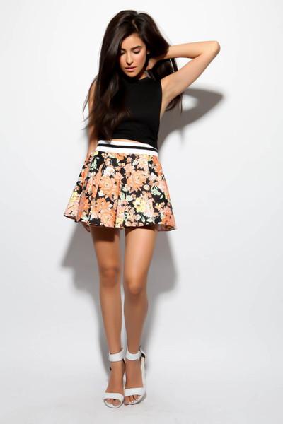 Wear again floral skirt