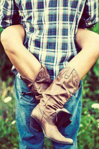 shoes cowboy boots boots brown leather boots