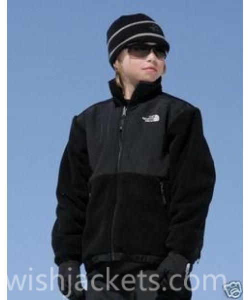 North Face Canada Kids Denali Fleece Jacket Black Bj130370