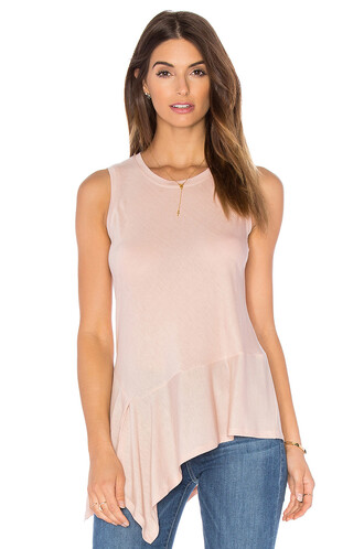 asymmetrical pink top