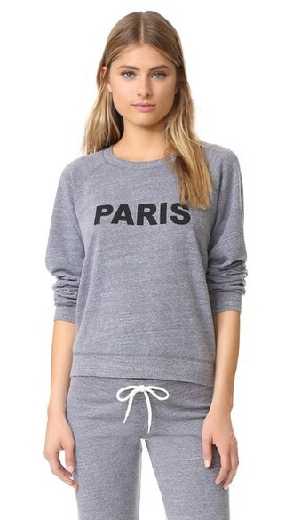 sweatshirt vintage paris dark sweater