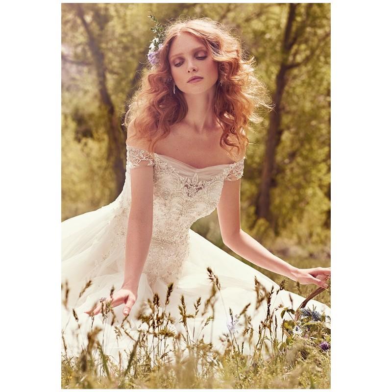 Maggie Sottero Iris - Ball Gown Sweetheart Natural Floor Chapel Tulle Beading - Formal Bridesmaid Dresses 2018 Pretty Custom-made Dresses Fantastic Wedding Dresses
