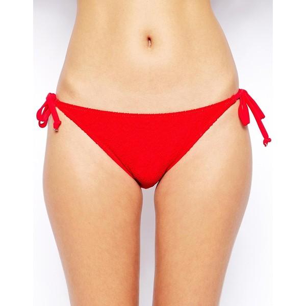 Marie Meili Sunrise Red Side Tie Bikini Bottoms