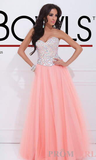 dress pink dress prom dress long dress ball gown dress pink glitter