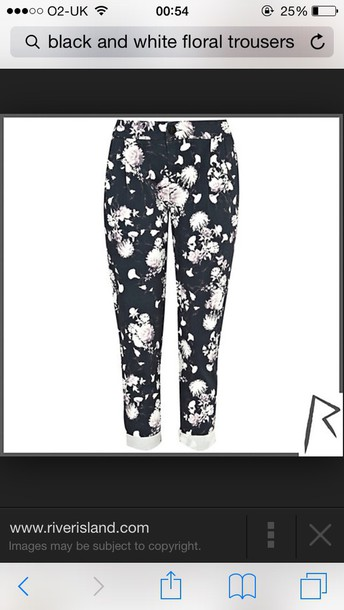 leggings black and white floral