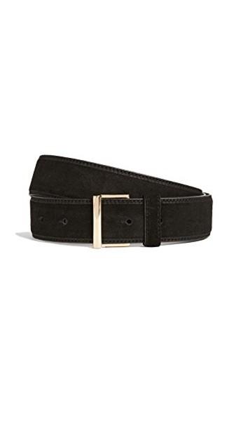 FRAME classic belt suede noir