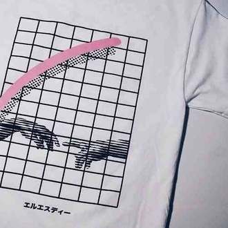 t-shirt white shirt kawaii kawaii dark kawaii grunge pink soft grunge pastel black japanese clothes design aesthetic vaporwave menswear women girl boy grunge indie alternative aesthetic square