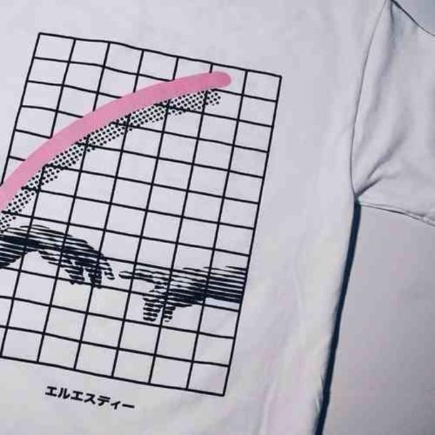 t-shirt white shirt kawaii kawaii dark kawaii grunge pink soft grunge pastel black japanese clothes design aesthetic vaporwave menswear women girl boy t-shirt grunge indie alternative aesthetic square