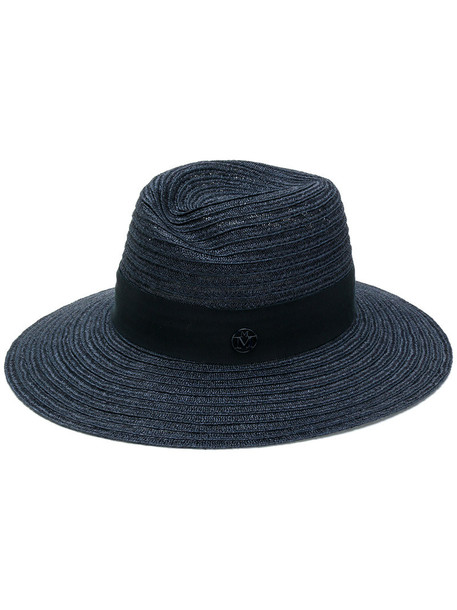 Maison Michel women hat straw hat cotton blue