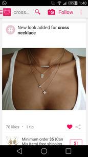 jewels,necklace,cross,five,hands