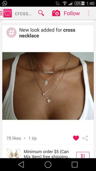 jewels cross necklace five hands