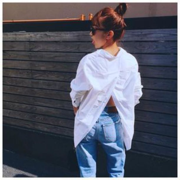 blouse cheap monday white button up maxi button up button up blouse white top white shirt white blouse streetstyle streetwear fall outfits denim
