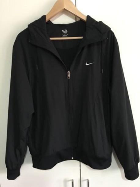 jacket black nike windbreaker black nike windbreaker coat black nike coat nike windbreaker raincoat white black and white nike jacket