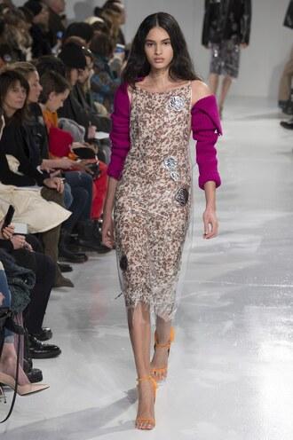 dress calvin klein runway midi dress ny fashion week 2017 fashion week 2017 sandals