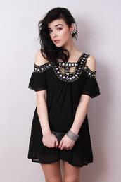 dress,beaded dress,sequin dress,black dress,party dress,grecian,jewels