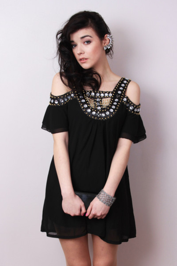 dress beaded dress sequin dress black dress party dress grecian jewels