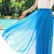 Circle Maxi Skirt - Royal Blue