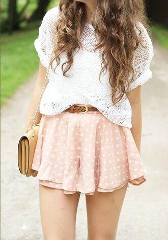 skirt girly dress pink dress pink skirt white dress blouse bag