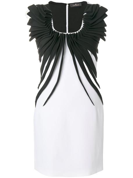 CAPUCCI dress mini women spandex white silk
