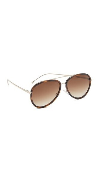 sunglasses aviator sunglasses gold brown