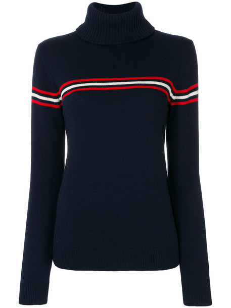Perfect Moment sweater women turtle blue