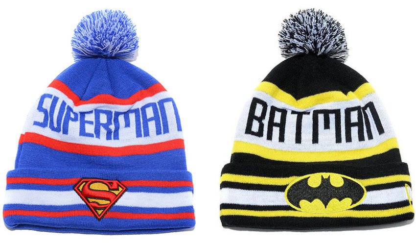Hip Hop Men's Women's Superman Batman Beanies Winter Cotton Knit Cap Wool Hats | eBay