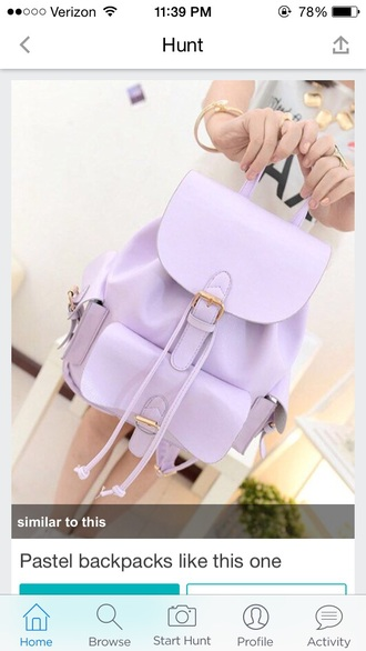 bag purple bag
