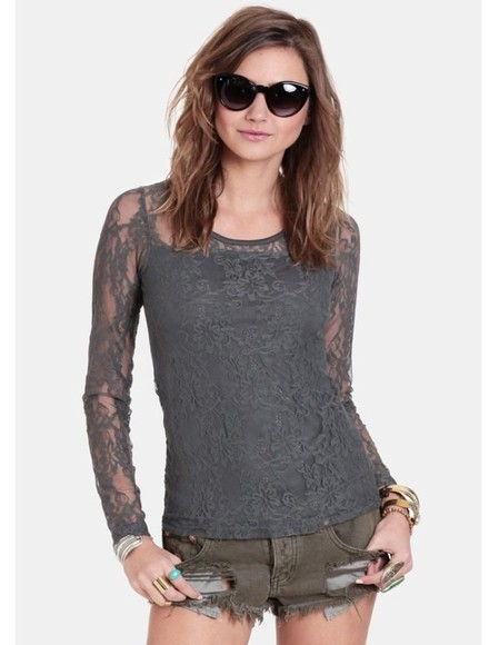 top grey blouse want it in pounds pounds lace