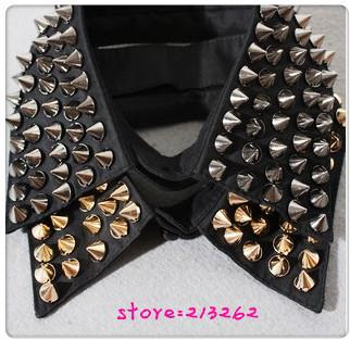 Wholesale wholesale jewelry stylish punk cone spike rivet knitting collar necklace online with $5.63/piece on lin233945's store