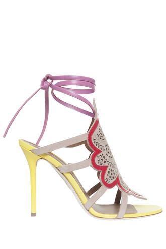 heel sandals beige shoes