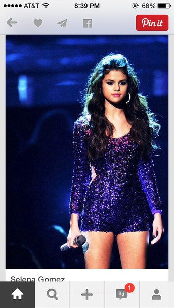 2528d27df9ff jumpsuit romper glitter purple glitter colour selena gomez selena gomez  black come and get it dress