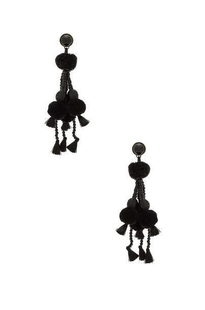 Nannacay earrings black jewels