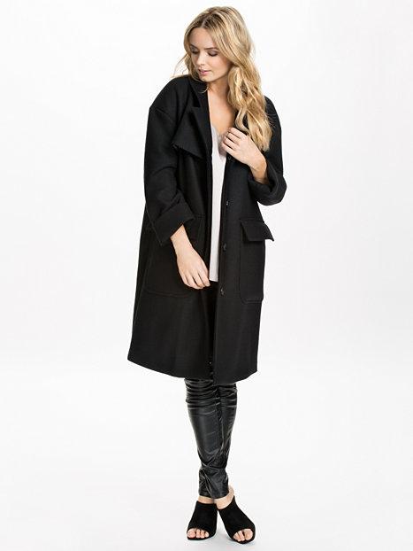 Poppy Coat - Hope - Black - Jackets And Coats - Clothing - Women - Nelly.com Uk