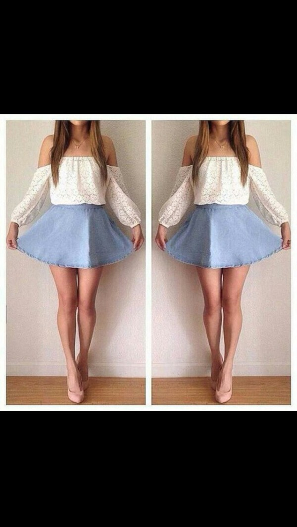 blouse shirt and skirt