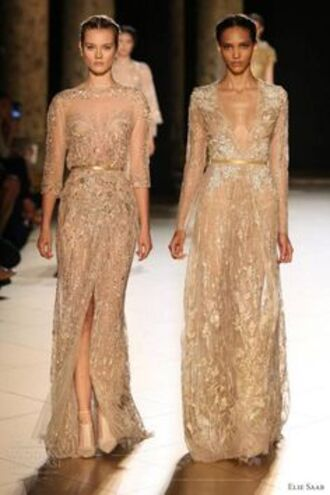 dress sequin lace dress beaded catwalk bridesmaid dresses wedding dresses gold dress