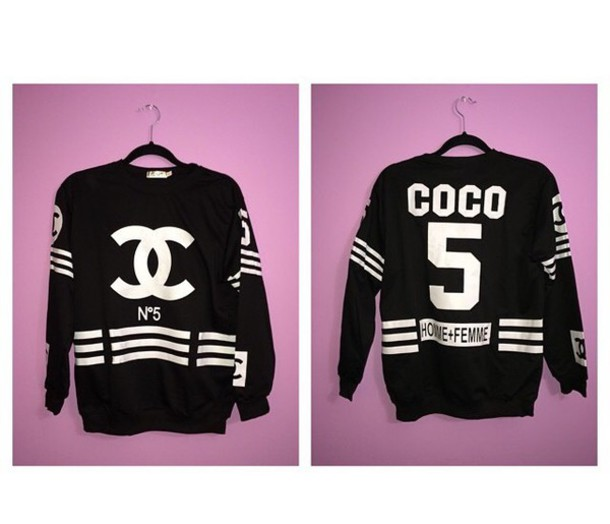 shirt chanel sweater chanel t-shirt