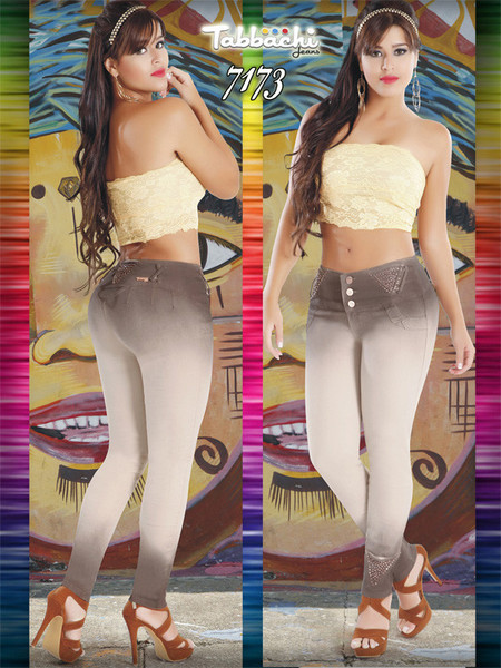 Two Tone Tabbachi Jeans 7173 | Yallure