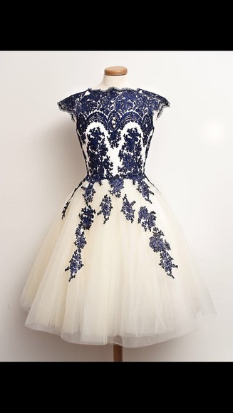 navy prom dress