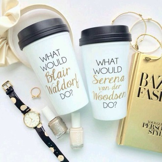 home accessory gossip girl serena van der woodsen blair waldorf coffee mug nail polish jewels hair accessory bag serena blair gossipgirl blair serena starbuck cofee