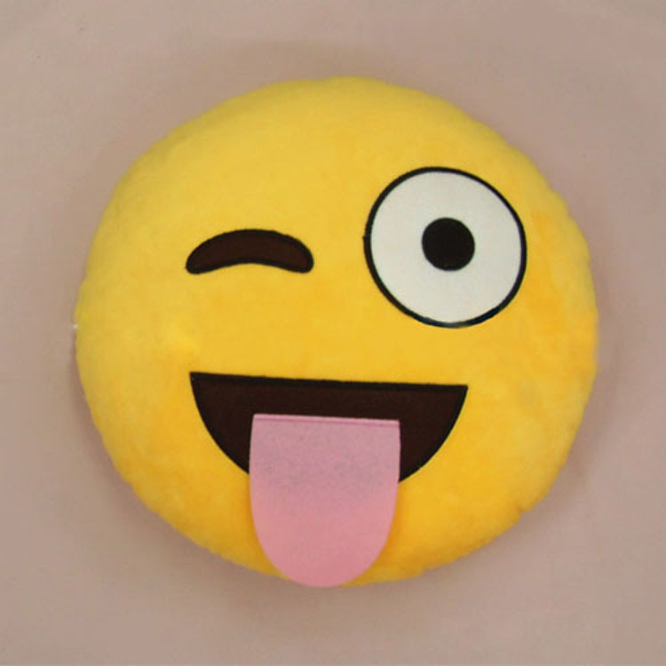 2015 New 6 Styles Soft Emoji Smiley Emoticon Yellow Round Cushion Pillow Stuffed Plush Toy Doll Christmas Present Pendant-in Cushion from Home & Garden on Aliexpress.com | Alibaba Group