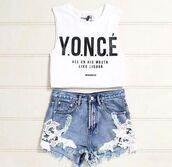 shirt,beyonce,white,yonce,t-shirt,blouse,queen bee,yonce crop top,top