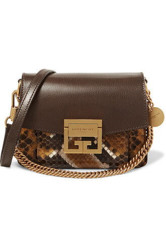 mini python bag shoulder bag leather brown