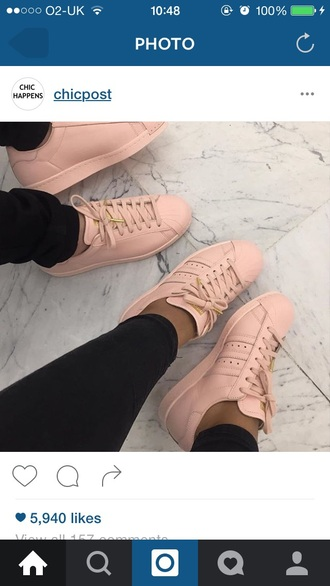 shoes adidas nude pink