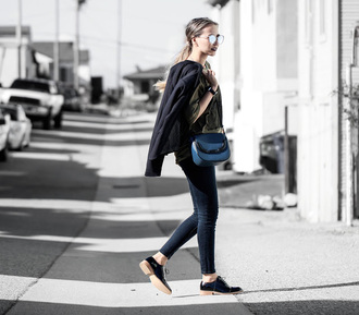 different cands blogger t-shirt jeans bag shoes jacket