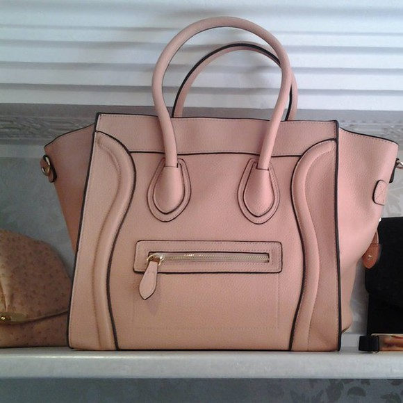 bag celine leather bag pink