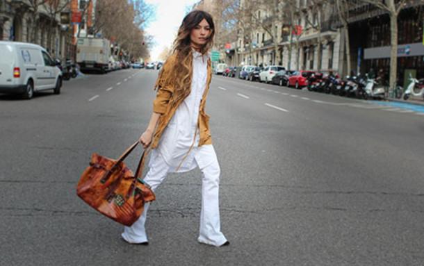 madame rosa blogger jacket shirt jeans bag
