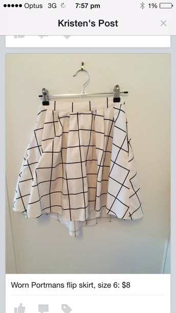 skirt black and white checkered
