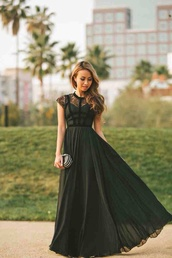 fancy,dress,classy dress,long,clothes,homecoming,dance,bridesmaid,fashion,women,teenagers,green dress,green maxi dress,favourite,long dress,must haves,date outfit,black dress,short sleeve,lace,long prom dress,black long prom dress,black prom dress,lace dress,maxi dress,dark green
