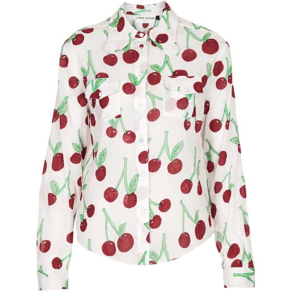 TOPSHOP **Cherry Print Shirt by Meadham Kirchhoff - Polyvore